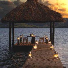 romantic dinner ...