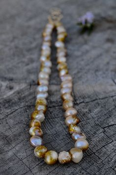 """White Nugget Baroque Freshwater Pearl/&Chips Tourmaline Necklace 80/"""""""