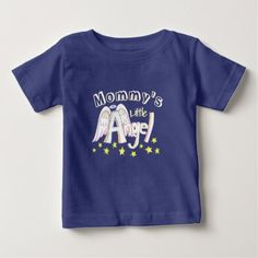 Blue Mommy's Little Angel Toddler/baby Shirt - shower gifts diy customize creative