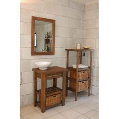 Vanitory De 62cm Con Tapa De Madera Incluida. Bathrooms, Kitchen Cabinets, New Homes, Vanity, House Design, Bathroom Vintage, Restroom Decoration, Handmade Crafts, Environment
