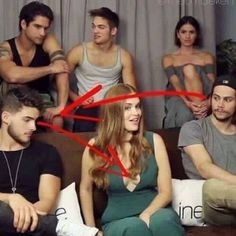 Why do i see dylan.O'brian looking at hollands face like love and cody looking at her boobs like well u know
