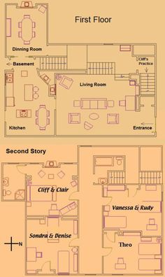The Brady Bunch! house map floorplans - upstairs. Go Here for ...
