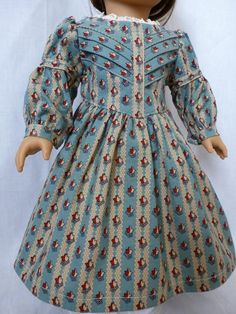 1850's dress in robin egg blue by nancysdollcloset