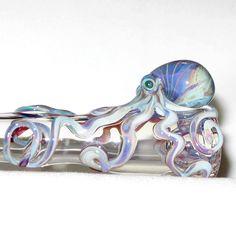 Octopus Chillum Medium Hand Blown Glass