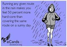 HAHA running in the fall and winter here mean running in the rain Love it. #RAINcouver