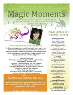 What's new at Michelle McInnis; Magic Moments Coaching