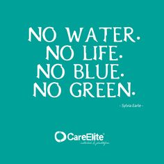 Fight against plastic pollution. No Water. No Life. No Blue. No Green.