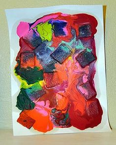Make Baked Crayon Art- Inspired by My 16 month old putting a RED crayon in my clothes dryer....  :)