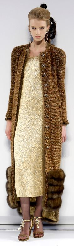 Chanel Haute Couture - fabulous sweater coat!!! I would wear this with jeans and boots.