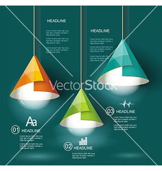 Iinfographic template with light bulb vector by Success_ER on VectorStock®
