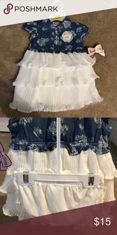 Nannette baby dress 3-6mo New with tags 3-6mo dress with diaper cover. MAKE AN OFFER!! Nannette Matching Sets