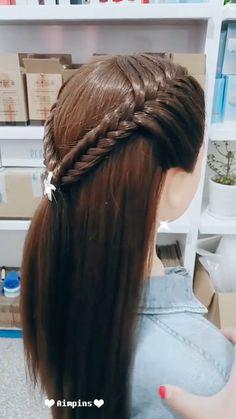 My list of women's hairstyles - Long Hair Hairstyles For Girl Hair Tutorials For Medium Hair, Medium Hair Styles, Short Hair Styles, Pretty Hairstyles, Girl Hairstyles, Braided Hairstyles, Khloe Hair, Girls Hairdos, Hair Upstyles