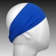 Light Performance Spandex Headband by Ponya Bands in Royal Blue | ponyabands.com