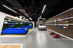 mode:lina:tm: Designs a New Volkswagen Showroom for Polish Market - Design Milk