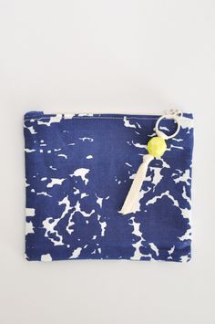 Mini Zipper Pouch - Indigo