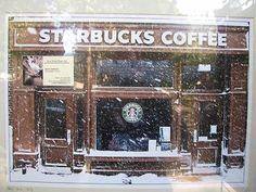 Rain, sleet, nor snow will not prevent me from getting my Starbucks fix. Coffee Room, Coffee Art, My Coffee, Coffee Drinks, Coffee Club, Coffee Shops, Coffee Break, Coffee Mugs, Working At Starbucks