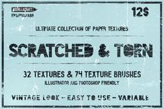 Scratched & Torn paper textures by Guerillacraft on @creativework247