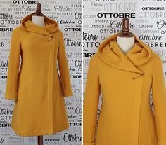 Pattern 18 from Ottobre magazine, 5/2012: autumn coat in boiled wool;    I am going to take an awful poncho and turn it into this!