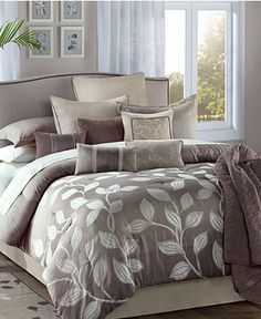 Angelica 12 Piece Queen Jacquard Comforter Set - Bed in a Bag - Bed & Bath - Macy's $149.99
