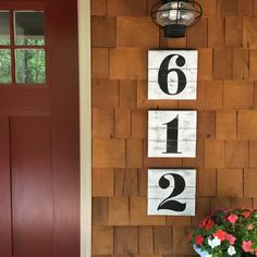 NUMBER WALL ART, House Numbers, Rustic House Numbers, Subway Numbers,  Number Artwork