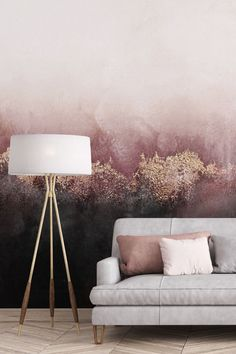 Be inspired by this made-to-measure wallpaper collection from Wallsauce. Great for avid art collectors or those who enjoy all things beautiful. This industrial effect wallpaper would look amazing in your living room above your sofa. It would make a fantastic centrepiece to any room and would benefit from décor that celebrates the rich shades of black, gold and grey. Click to see this stunning collection from Wallsauce!  Add pink aesthetics to your living room. Where to buy pink wallpaper.
