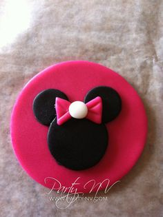 EDIBLE Fondant Cupcake Toppers  Minnie Mouse by PartyNV on Etsy, $24.00