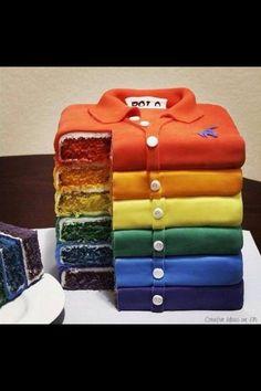 Shirt rainbow layer cake :)