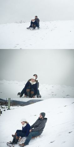 Engagement session with a sled.  Williamsport photographer.