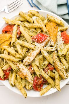 Trader Joe's Pesto Penne with Chicken                                                                                                                                                                                 More