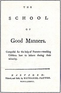 The School of Good Manners.   Definitely need the traffic school version of this for adults.