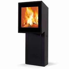 Skantherm Vision Wood Burning Stove, ultra modern style.