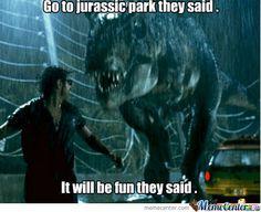 jurassic park world POPSUGAR jurassic park memes Jurassic Park Funny, Jurassic Movies, Jurassic Park Series, Jurassic Park World, Jurassic Park Quotes, Movie Memes, I Movie, Tv Memes, Movie Scene