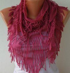 Purple  Shawl Scarf    - by fatwoman on Etsy, $17.00