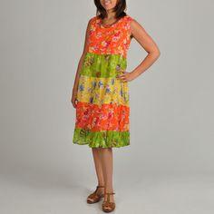 La Cera Women's Plus Size Floral Print Tiered Dress | Overstock.com Shopping - Top Rated La Cera Dresses