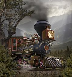 """TENMILE - A locomotive rendering created in KeyShot by Bill Gould for a magazine cover. Train Pictures, Cool Pictures, Train Illustration, Old Steam Train, Train Art, Old Trains, Steam Engine, Steam Locomotive, Train Tracks"