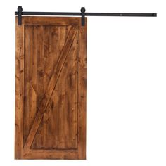 """Z"" Style Barn Door Kit 42""x84"" with Industrial  Sliding Hardware in Flat Black"