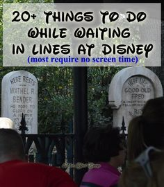 20+ Things to Do while waiting in line at amusement parks, Walt Disney World, Disney Tips, Travel Tips