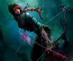 Forgotten Myths Card art - Runic bow by mattforsyth.deviantart.com on @DeviantArt