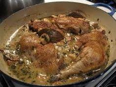 40 CLOVES OF GARLIC CHICKEN  Carrabba's Copycat Recipe   Serves 6-8   40 cloves of garlic, unpeeled  1 large, chicken, cut into pieces ...