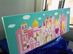Home Decoration Ideas Dreams It's a Small World Painting by TrinasTreasuresCo on Etsy.Home Decoration Ideas Dreams It's a Small World Painting by TrinasTreasuresCo on Etsy