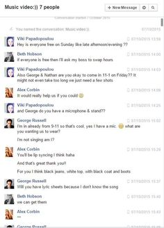 Planning & Pre Production: We used Facebook Messenger to talk with our band and actors. We made a group chat with our band to see when everyone was not busy and organise a shoot time. We also used this to organise who needed to bring what to each shoot such as Jake bring his drums to the common. This helped us to keep in contact and ensure everyone knew their responsibilities.