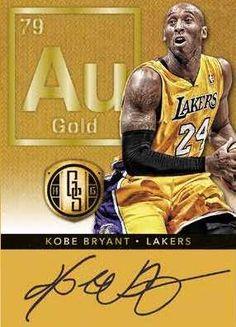 14-15 Panini Gold Standard Basketball AU Gold Example with Kobe Bryant
