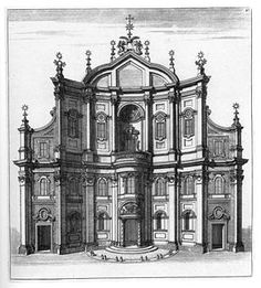 The Oratorio dei Filippini (Oratory of Saint Phillip Neri) is a building located in Rome and erected between 1637 and 1650 under the supervision of architect Francesco Borromini. The facade provides a summary of Borromini's characteristics of innovations style, both austere and technically rigorous.