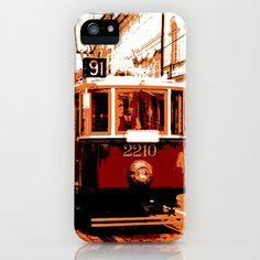 City Tram iPhone Case by Pedro Nogueira - $35.00