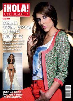 Daniela Ospina, mujer de James Rodríguez, posa en exclusiva con la camiseta de los 70 años de ¡HOLA!