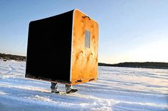 Why not take your tiny house with you? Ice Fishing Huts, Gone Fishing, Best Fishing, Fishing Tips, Fishing Shack, Fishing Stuff, Fishing Quotes, Fishing Tackle, Fishing Rod