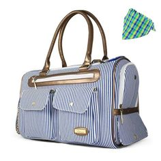 HOODDEAL Fashion Dog Carrier Dog Handbag Dog Purse Tote Bag Pet Cat Dog Hiking Backpack (Blue) ~ You can see this great product. (This is an affiliate link and I receive a commission for the sales) Dog Carrier Purse, Dog Purse, Dog Tote Bag, Cat Carrier, Bandana, Designer Dog Carriers, Hiking Dogs, Cat Dog, Striped Canvas