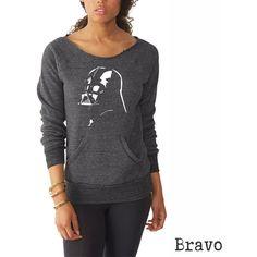 Star Wars Shirt Womens Sweatshirt Darth Vader Shirt Star Wars... ($36) ❤ liked on Polyvore featuring tops, hoodies, sweatshirts, black, women's clothing, black top, sweatshirts hoodies, black sweat shirt, black sweatshirt and sweat tops