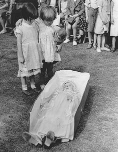 I find it so sad that the coffin is not big enough