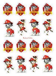 Cartoon Dog, Cartoon Characters, Marshall, Paw Patrol Party, A4, Safari, Printables, Stickers, Superhero